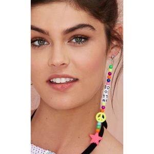 New Nasty Gal Dope Beaded Earring